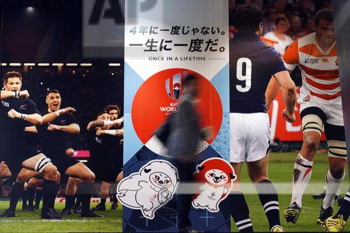 Japan Rugby WCup Typhoon