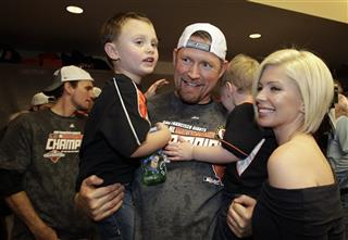 Aubrey Huff, Barbara Huff, Jayce &amp; Jagger Huff