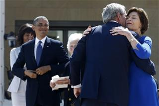 Barack Obama, George W. Bush, Michelle Obama, Laura Bush