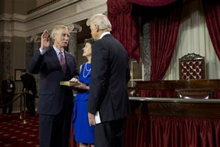Angus King, Mary Herman, Joe Biden 