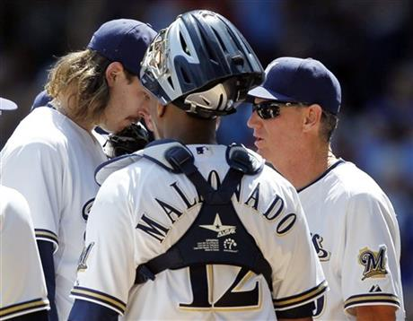 Ron Roenicke, John Axford, Martin Maldonado