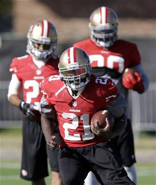 Frank Gore, Trenton Robinson, LaMichael James