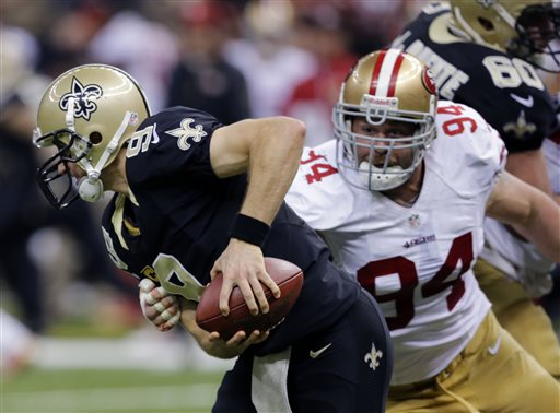 Drew Brees, Justin Smith