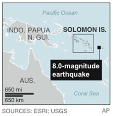 SOUTH PACIFIC EARTHQUAKE 2