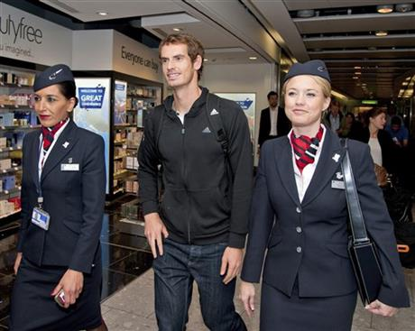 Tennis - Murray arrives back in UK