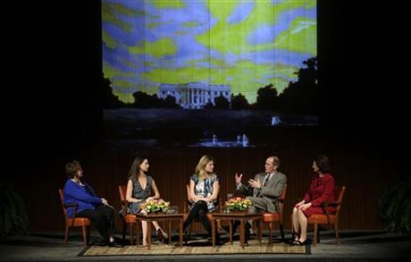 Barbara Pierce Bush, Jenna Bush Hager, Steve Ford, Lynda Johnson Robb