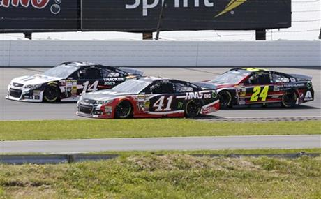 Tony Stewart,Kurt Busch,Jeff Gordon