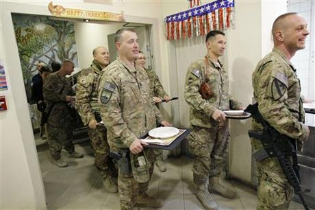 Afghanistan US Troops Thanksgiving