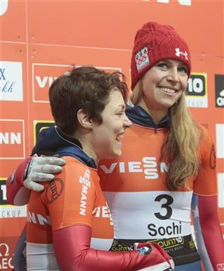 Noelle Pikus-Pace,Katie Uhlaender