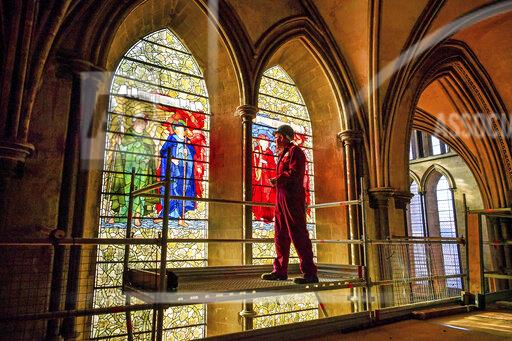 Restoration work at Salisbury Cathedral