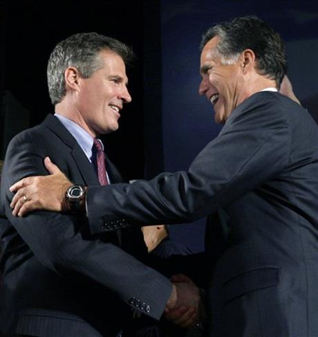 Scott Brown, Mitt Romney