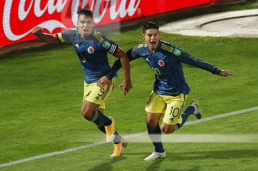 Chile Colombia Wcup Soccer