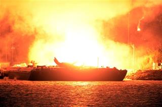 MOBILE FUEL BARGE EXPLOSIONS