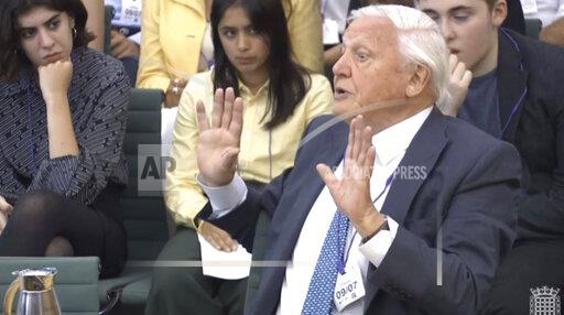 Sir David Attenborough questioned by MPs