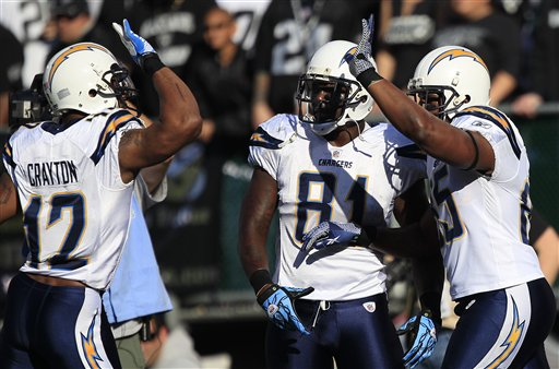 Antonio Gates, Patrick Crayton, Randy McMichael