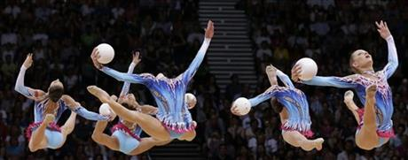 APTOPIX London Olympics Rhythmic Gymnastics