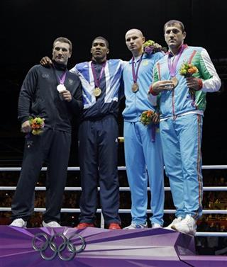 Roberto Cammarelle, Anthony Joshua, Ivan Dychko, Magomedrasul Medzhidovduring