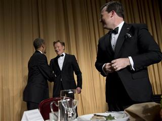 Barack Obama, Ed Henry, Conan O'Brien