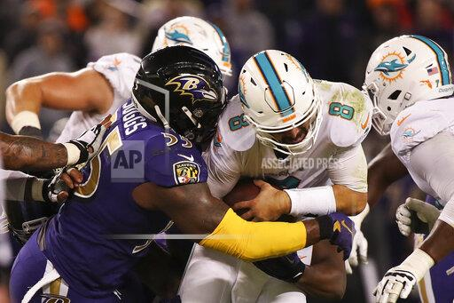 NFL AP S FBN MD USA NYWWP Dolphins Ravens Football