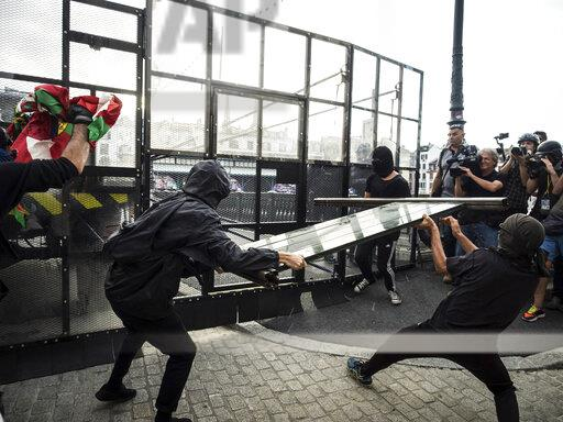 G7 - Protesters Clash With Police - Bayonne
