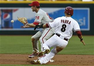 Chase Utley, Gerardo Parra