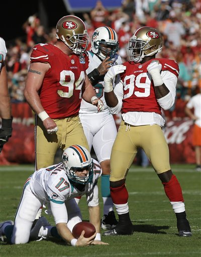 Justin Smith, Aldon Smith, Ryan Tannehill