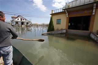 For the story BC-EU—Albania-Flooding
