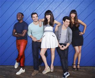 Lamorne Morris, Jake Johnson, Zooey Deschanel, Max Greenfield, Hannah Simone