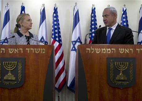 Hillary Rodham Clinton, Benjamin Netanyahu