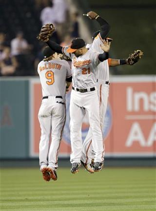 Adam Jones, Nate McLouth, Nick Markakis