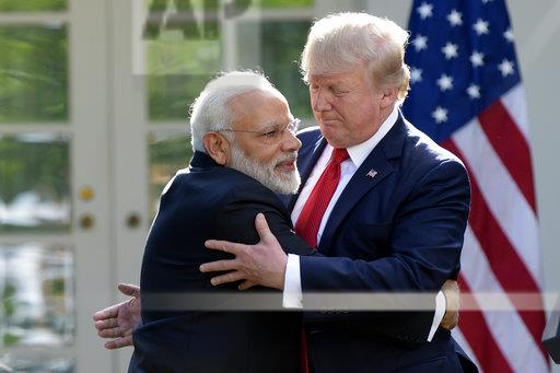 APTOPIX Trump United States India