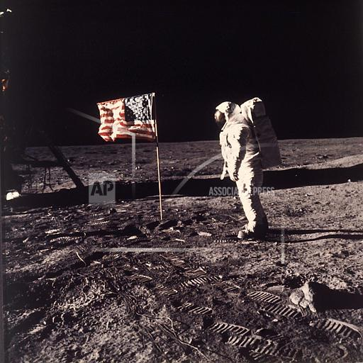 Associated Press Domestic News In Space APOLLO 11 MOON LANDING