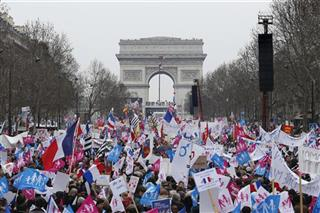 APTOPIX France Gay Marriage