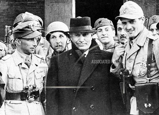 Associated Press International News Italy WWII MUSSOLINI GERMAN SOLDIERS