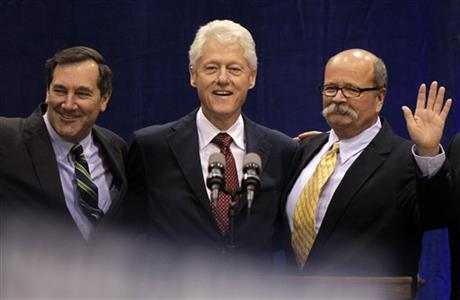 Bill Clinton, Joe Donnelly, John Gregg