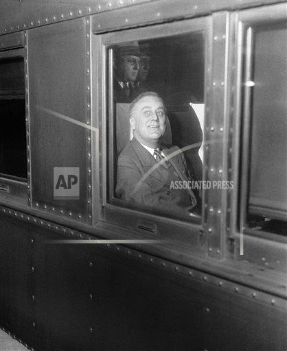 Watchf Associated Press Domestic News  New York United States APHS123975 Franklin Roosevelt Train