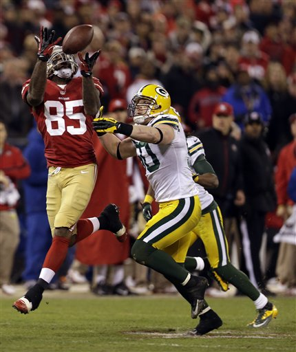 Vernon Davis, A.J. Hawk