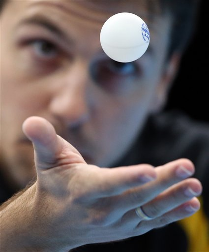 APTOPIX London Olympics Table Tennis Men