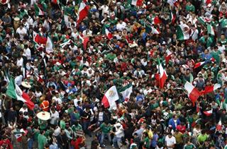 Mexico Olympic Soccer Celebration