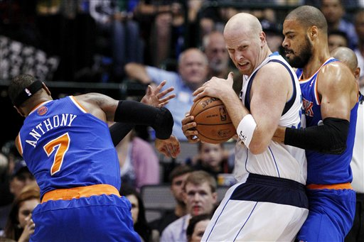 Chris Kaman, Carmelo Anthony, Tyson Chandler
