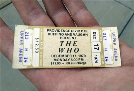 CORRECTION The Who Old Tickets