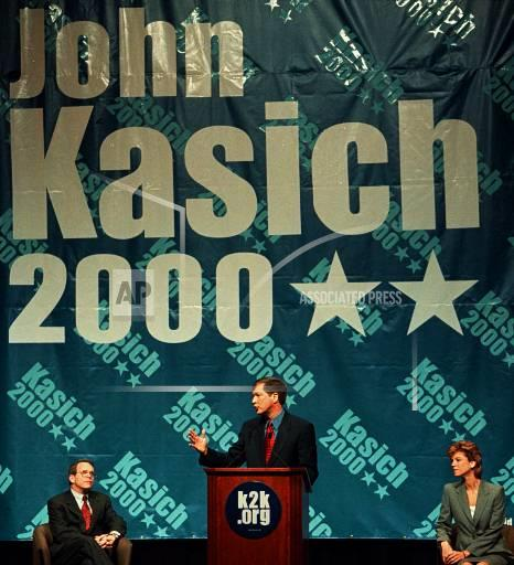 Associated Press Domestic News Ohio United States Election campaigns KASICH 2000