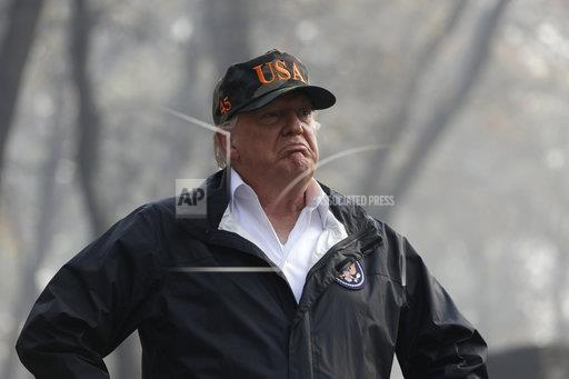 APTOPIX Trump California Wildfires