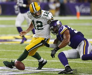 Anthony Barr, Aaron Rodgers