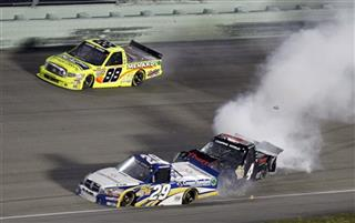 Kyle Larson,Ryan Blaney, Matt Crafton