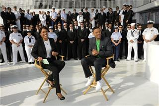 ROBIN ROBERTS, WILL SMITH, CREW OF SS INTREPID