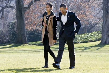 Barack Obama, Malia Obama