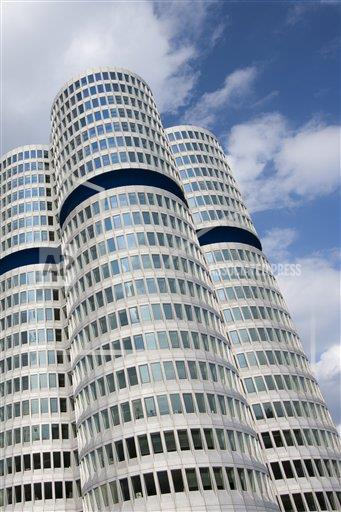 Creative Robert Harding Productions /AP Images A  Bavaria Germany 1161-5742 Modern architecture at the BMW Headquarters office blocks in Munich, Bavaria, Germany