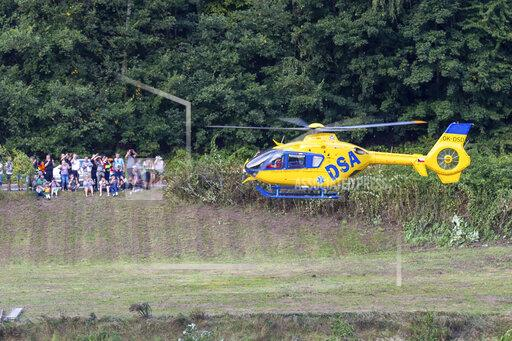 Elbtal - German and Czech forces practise emergency