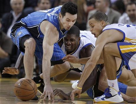 J.J. Redick, Stephen Curry, Festus Ezeli